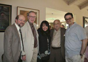 L-R: JB, Bruce Babcock, Doreen Ringer Ross, Earle Hagen, Carlos Rodriguez