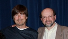 "With Tom Newman after a 2009 Q&A on ""Revolutionary Road."""