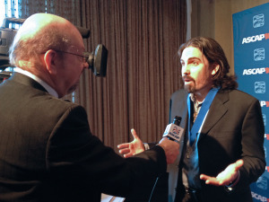 Interviewing the always animated Bear McCreary.
