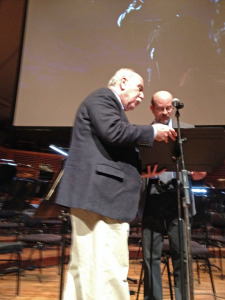 Working with producer John Goberman during rehearsals at Davies Symphony Hall.