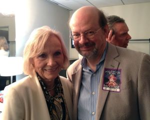 Eva Marie Saint backstage after the performance.