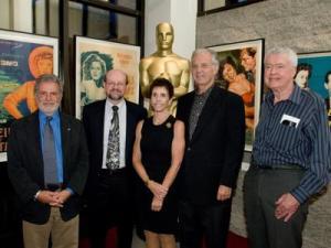 L-R: Acad president Sid Ganis, JB, Juliet Rozsa, Bruce Broughton, Rudy Behlmer.