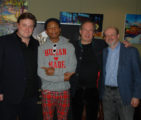 L-R: Benjamin Wallfisch, Pharrell Williams, Hans Zimmer, JB