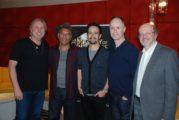 L-R: Mark Mancina, Opetaia Foa'i, Lin-Manuel Miranda, Tom MacDougall, JB